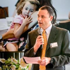 'Professor Matt Davis at the recent FLEET launch in Melbourne.'